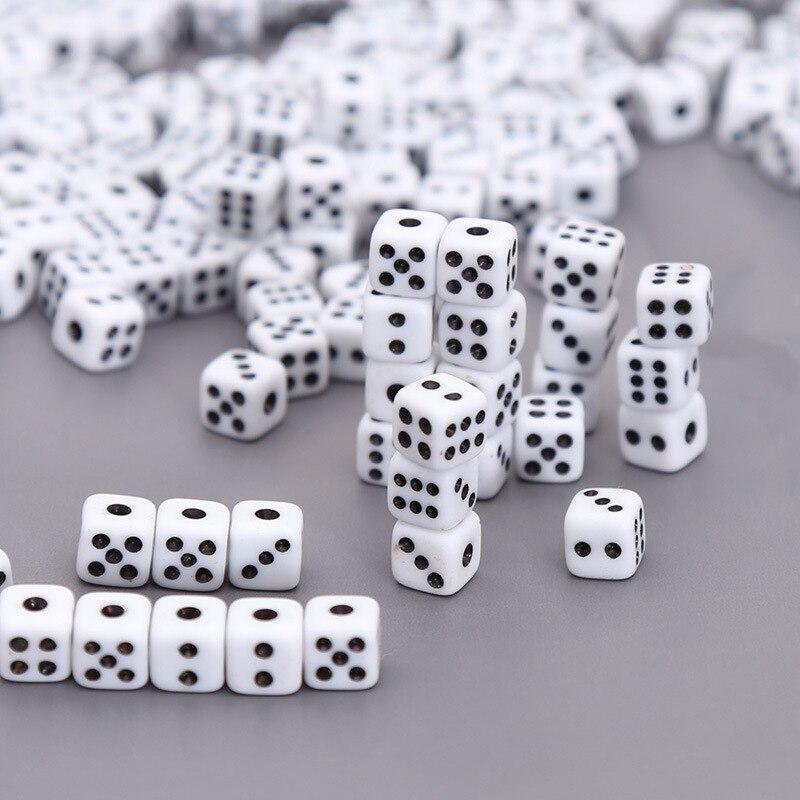 10/1 шт 8 мм белый игры игральная кость Стандартный шесть сторонняя Decider вечеринок по случаю Дня рождения смешная Настольная игра игрушка инст...