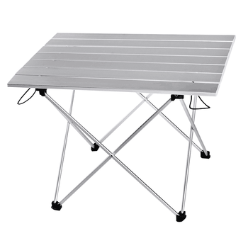 Aluminum Alloy Portable Table Outdoor Furniture Foldable Folding Camping Hiking Desk Traveling Outdoor Picnic Table Furniture giantex portable outdoor furniture set table 4 chairs set garden camp beach picnic folding table set with carrying bag op3381re