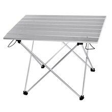 Mesa de acampamento portátil ao ar livre mesa de alumínio dobrável mesa de acampamento mesa de piquenique mesas de dobramento de doces luz cor s l tamanho