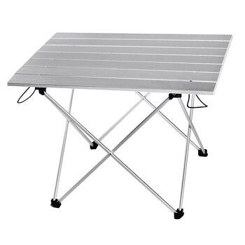 Mesa plegable de aluminio portátil para acampar, mesa plegable de acampada, Color...