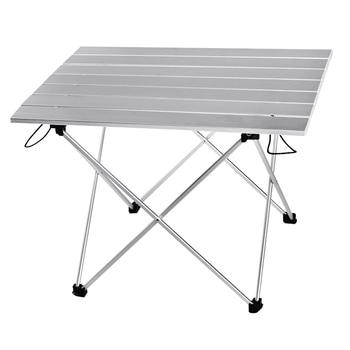 Mesa portátil de aleación de aluminio para exteriores plegable, plegable, para acampar,...