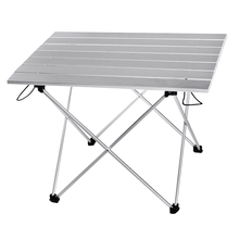 한국 판매 캠핑 테이블 휴대용 야외 알루미늄 접는 테이블 캠핑 테이블 접는 테이블 캔디 라이트 컬러 책상 S L 크기