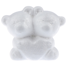 1PC biały z pianki styropianowej polistyrenowej do modelowania niedźwiedź Craft piłki dla majsterkowiczów świąteczne materiały do dekoracji weselnych prezenty tanie tanio PlumHOME