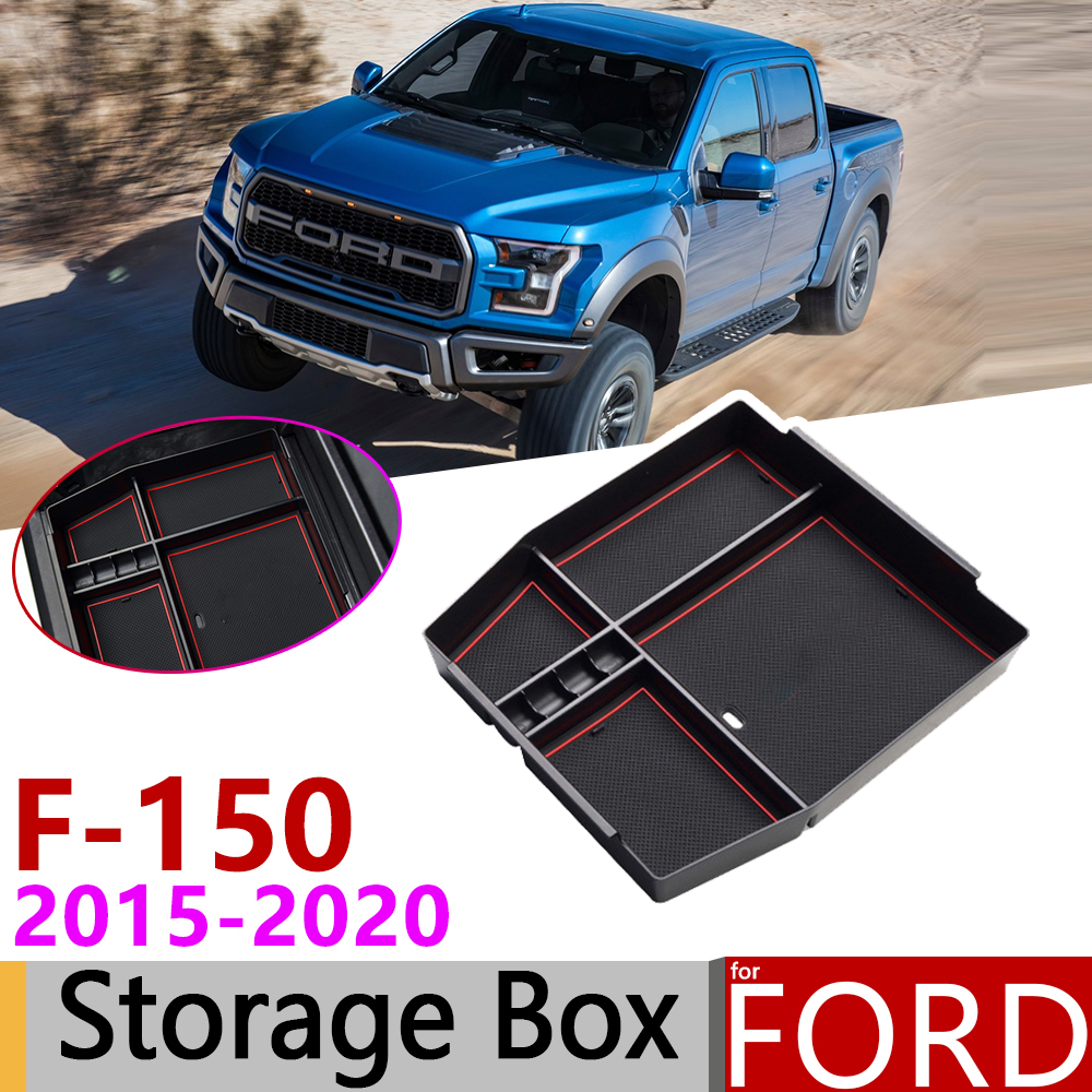 for <font><b>Ford</b></font> F150 F-150 <font><b>Raptor</b></font> LOBO XL XLT 2015~2020 of Armrest Box Storage Stowing Car Organizer Accessories 2016 2017 2018 2019 image