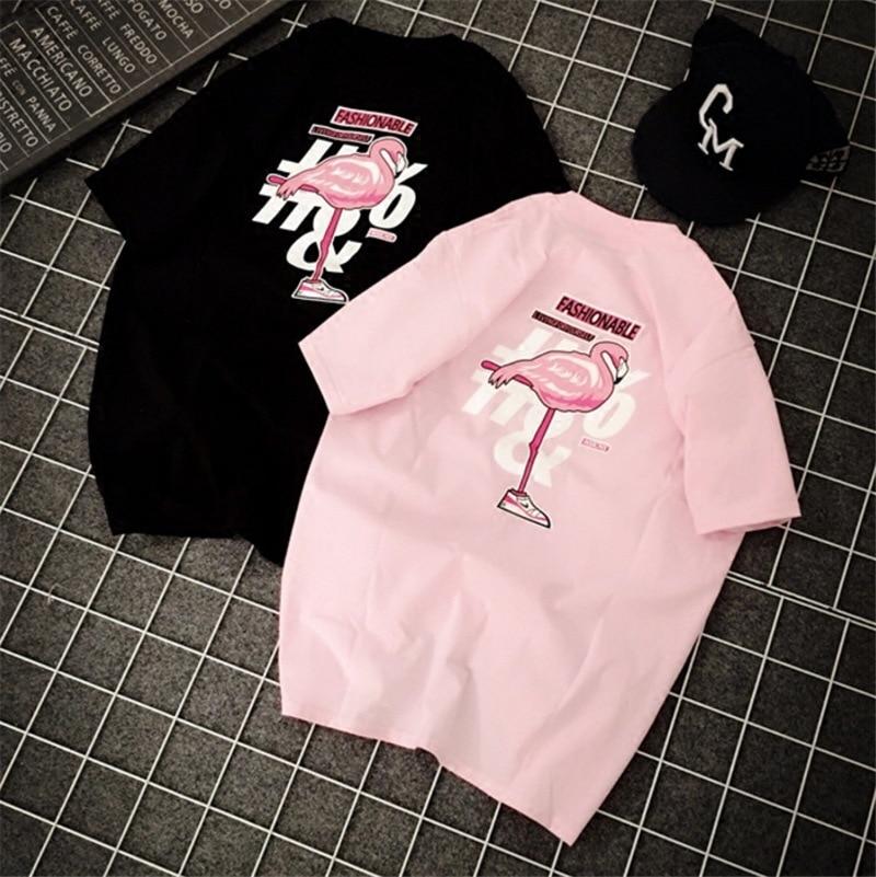 2020 Summer Women Tshirt Short Sleeve T-shirt Animal Flamingo Children Little Girl Shirt Top Tees Women Men Shirts
