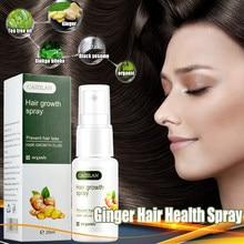 Imbir odżywczy płyn w sprayu wzrost włosów Spray niezbędny imbir korzeń włosów Spray odżywianie płyn anty utrata włosów dla kobiet mężczyzn