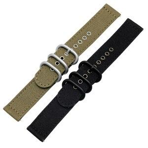 "Image 2 - Laopijiang ניילון שעונים רצועות 18mm 20mm 22mm 24mm נאט""ו זולו רצועת עבה בד רצועת השעון ספורט מהיר שחרור בר להקת שעון"