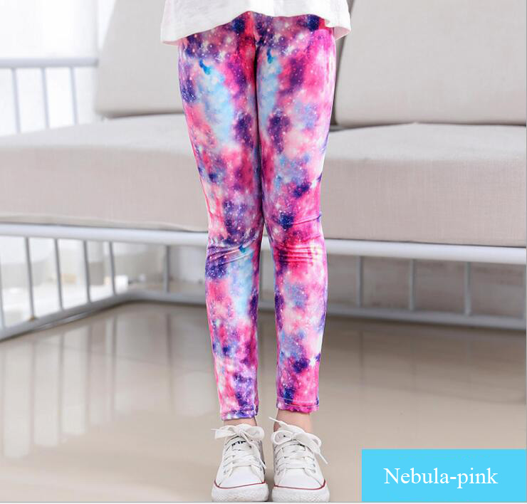 VEENIBEAR New Style Print Girl Leggings Skinny Cool Summer Girl Pants Children Kids Pants Baby Girl Clothes Trousers Age 4-11Y 5