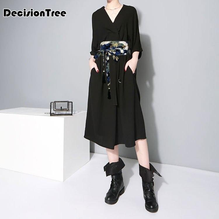 2020 women costume japanese traditional style v neck dress Japanese kimono robe anime clothing mujer yukata japan kimono dress