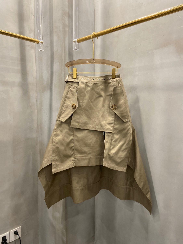 Casual Skirt Asymmetrical Autumn Cotton Women Ladies Midi for Ddxgz2v/10.21 Winner