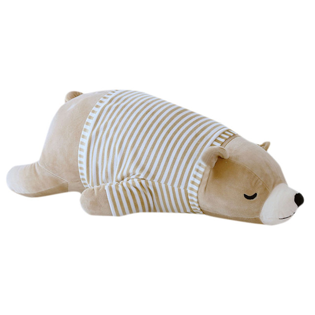 Lovely Soft Polar Bear Animal Doll Stuffed Plush Toy Home Party Wedding Kid Gift Brown Kids Toys Toys For Children Juguetes