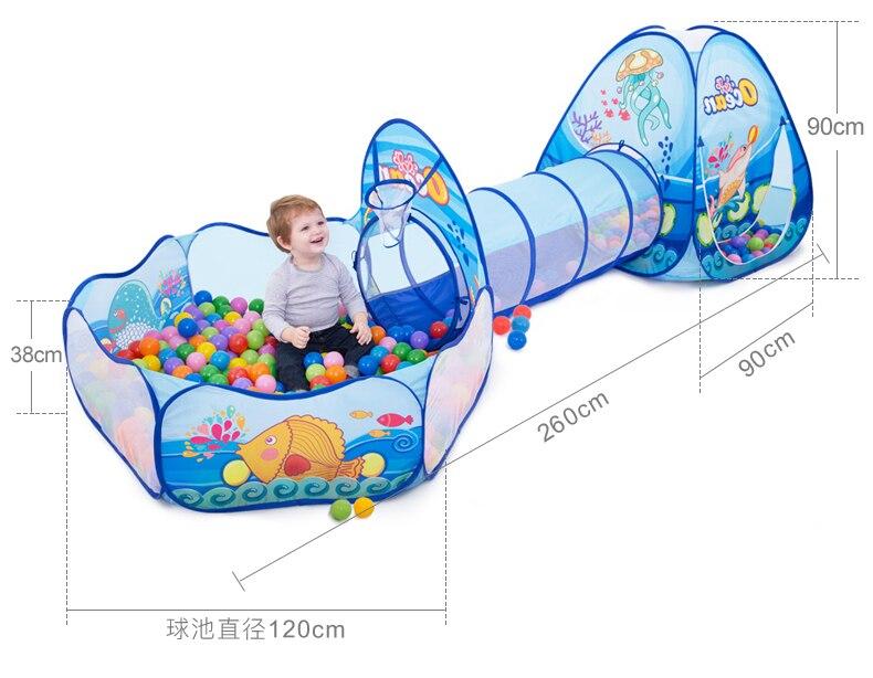 3 في 1 الأطفال الكرة بركة الطفل بالون روضة الاطفال المحمولة خيمة الكرة حفرة الزحف نفق ملعب للأطفال ساحة بركة ballenرسوم | Sterlea