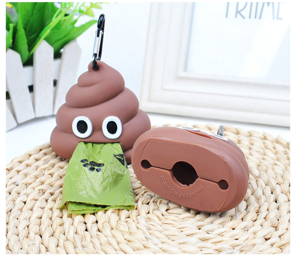 Dog Poop Bag Dispenser Funny Shape Waste Bag Holder Storage Box Puppy Portable Eco-friendly Garbage Bags Dispenser Pet Supplies 11