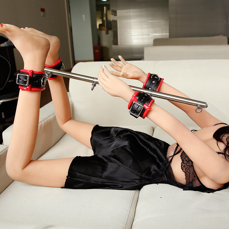 BDSM Bondage Game Set Stainless Steel Adjustable Spreader Bar Sex Slave Handcuffs Ankle Cuffs Fetish Restraints Toys Products
