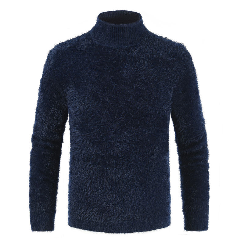 Winter Men's Turtleneck Men's Sweaters Fashion Thick Wool Pullover Men Casual Solid COlor Warm Sweater