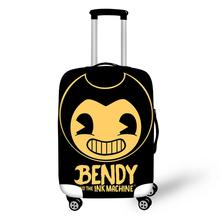 HaoYun Water-proof Luggage Cover Bendy and the Ink Machine Pattern Suitcase Cover Cartoon Elastic Dust-proof Travel Accessories 165 1700mm dust proof and water proof for cnc ruter engraving machine dust cover