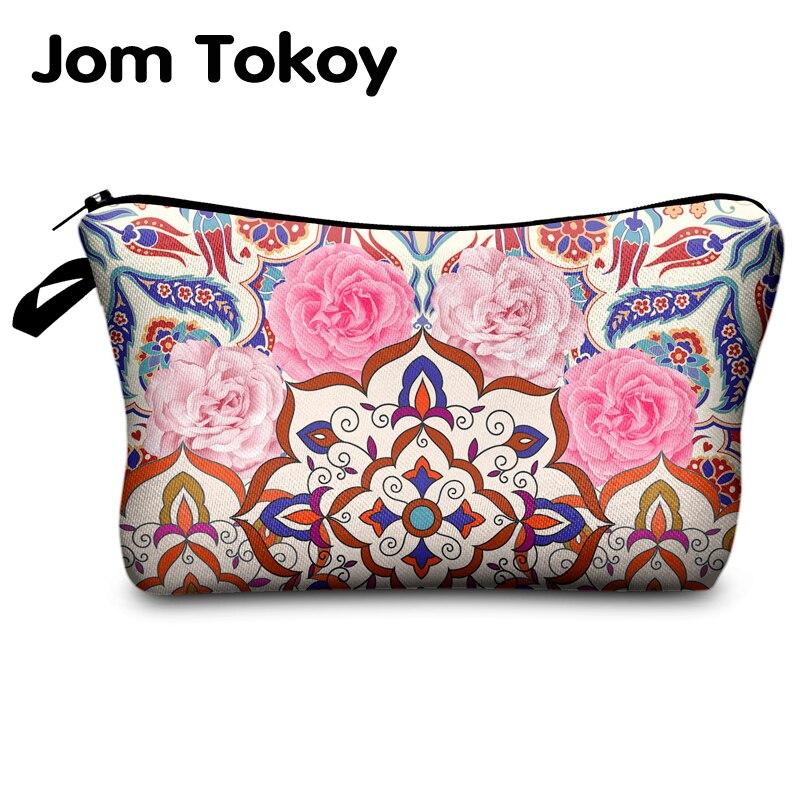 Jomtokoy New Women Mandala Printing Makeup Bags Cosmetics Pouchs For Travel Ladies Pouch Women Cosmetic Bag
