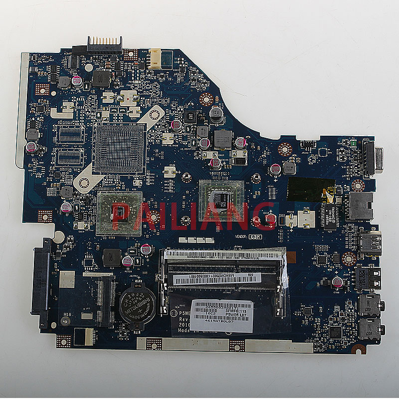 PAILIANG Laptop Motherboard For ACER Aspire 5253 PC Mainboard P5WE6 LA-7092P MBNCV02002 Tesed DDR3