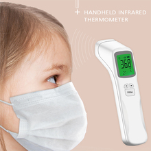 цена на Portable Infrared Fast Measuring Thermometer, Adult Baby Digital Thermometer, Non-contact Forehead and Ear Thermometer