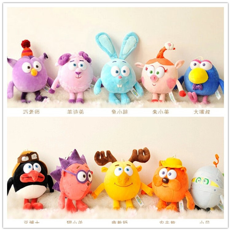 Russian Smesharik Gogoriki Kikoriki Plush Toy Animals Rabbits Pin Kod  Game Movie Village Happy Ball Toy For Babies Wholesale