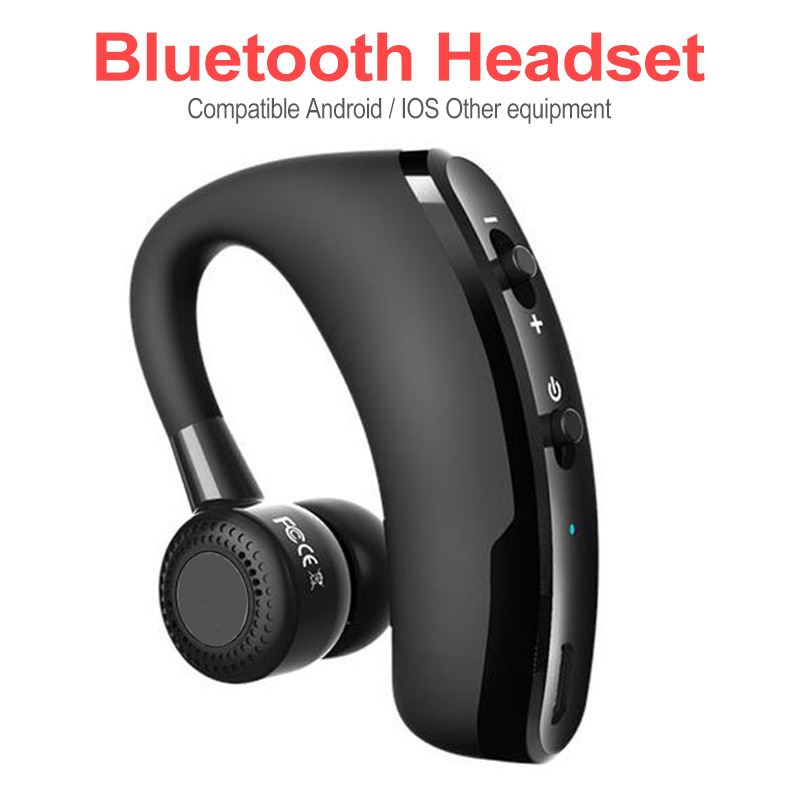 Noise Control Business Wireless Bluetooth Headset V9 Handsfree Wireless Earphones Bluetooth Headphones With Mic For Driver Sport