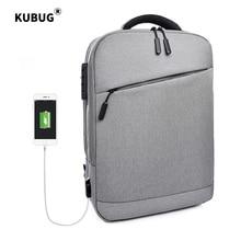 KUBUG 15.6 inch Laptop Business Backpack Men USB Charge Anti-theft Lock Waterproof Tourist Backbag Women Notebook Bag все цены