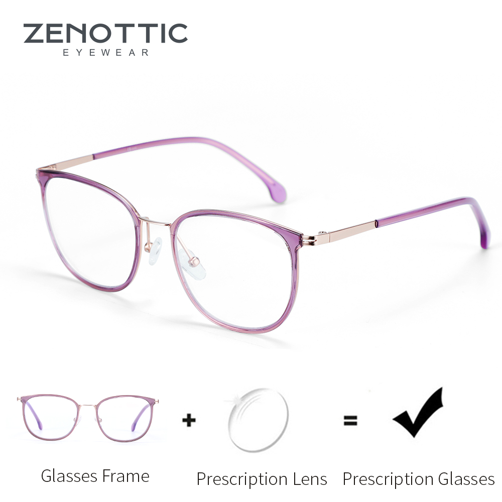 ZENOTTIC Cat Eye Optical Hyperopia Myopia Prescription Eyeglasses Women Transparent Prescription Eyeglasses Glasses Progressive image