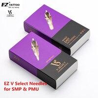 EZ V System-cartucho para tatuar, agujas de micropigmentación, maquillaje permanente, cejas, delineador de ojos, labios, Microblading, SMP & PMU V
