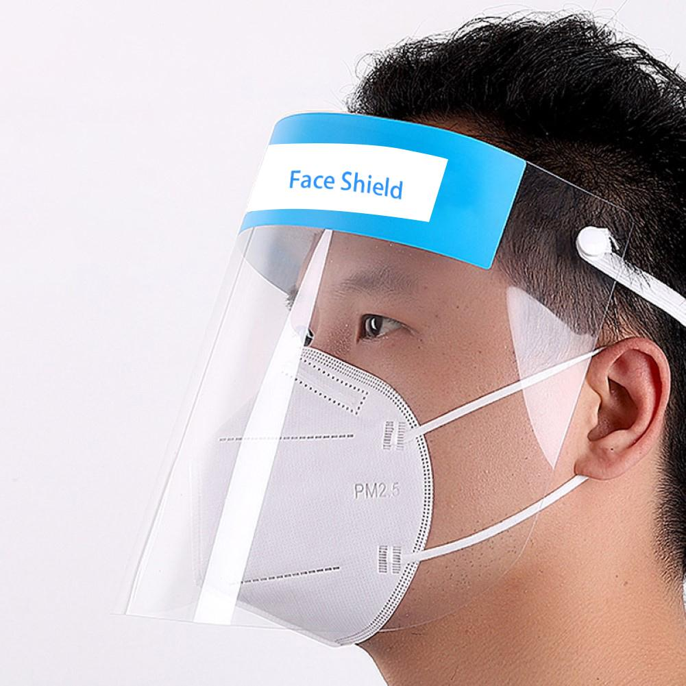 6PCS Transparent Breathable Face Shield Protective Respirator Anti-pollution Anti-Fog Safety Isolation Protective Mask