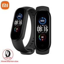 Xiaomi Mi Band 5 Smart Armband 1:1 große AMOLED Bildschirm Herz Rate Fitness Traker Bluetooth 5,0 Sport Wasserdichte band 5