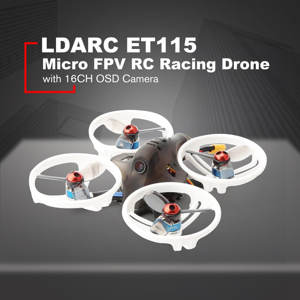 LDARC ET115 V2 3S Micro FPV Racing Drone Quadcopter PNP With OSD 800TVL Camera 16CH 25mW 100mW VT  Excluding batteries