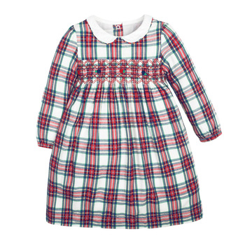 1-7 Years Floral Cotton Dress for Kids Baby Girl  Long-sleeved Doll Collar Clothes for Toddler Girl  for Autumn and Spring  2020 - Color 15, 2T