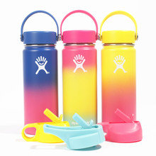 Stainless Steel Water Bottle Hydro Flask Water Bottle Vacuum Insulated Wide Mouth Travel Portable Thermal Bottle 18oz/32oz/40oz stainless steel water bottle hydro flask water bottle vacuum insulated wide mouth travel portable thermal bottle
