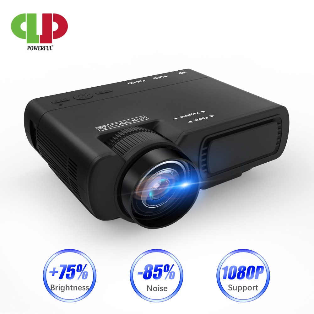 Puissant mini projecteur T5 720P 170 ''LED full hd proyector Home cinéma Compatible avec clé TV, PS4, HDMI, VGA, TF, AV et USB