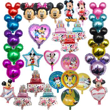 1 mysz Mickey Minnie seria balon z folii aluminiowej dekoracja urodzinowa dla dzieci klasyczna zabawka prezent wanienka Globos tanie i dobre opinie Sky Bessner Cartoon Amnimal Taśmy ROUND Serce Folia aluminiowa Ślub i Zaręczyny Wielkie Wydarzenie Birthday party Dzień dziecka