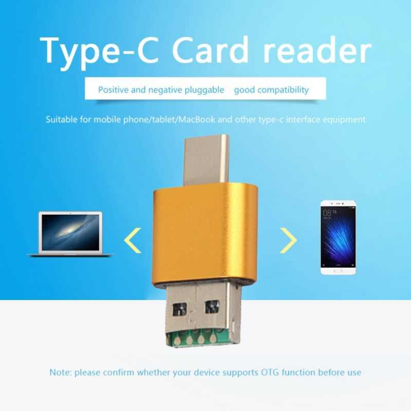 Универсальный 2 в 1 OTG тип-c кардридер USB 2,0 USB A Micro USB комбо TF SD Тип C кардридер для смартфонов ПК