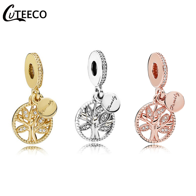 CUTEECO 2019 Hot Tree Of Life Pendant Fits Original Pandora Charm Bracelet Family Origin DIY Beads Fashion Jewelry Accessories in Charms from Jewelry Accessories