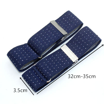 3.5CM Width Mens Shirt Adjustable Armband Vintage Men Suspender Sleeve Garter Cuff Holder Elastic Metal Arm Band Hold Up
