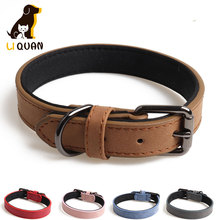 Small Dog Collar Soft Leather Pet Dog for Small Medium Large Dogs Neck Strap Safe Fashion Puppy Kitten Cat Collar Quick Release pu leather solid soft colorful pet dog collar for small medium large dogs neck strap adjustable safe puppy kitten cats collar