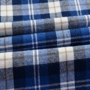 Image 5 - גברים של חולצה משובצת מזדמן 100% כותנה עסקי אופנה רופף ארוך שרוול חולצות זכר מותג בגדים בתוספת Zise 6XL 7XL 8XL 9XL 10XL