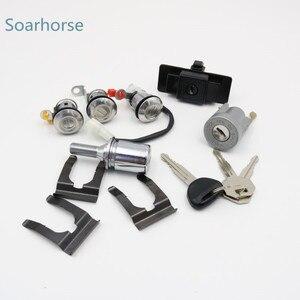 Для Mitsubishi Pajero montero MK2 4G54 4G64 4M40 6G72 автомобильный зажигание/перчаточный ящик/запасная шина/дверной замок цилиндр с ключом полный комплект