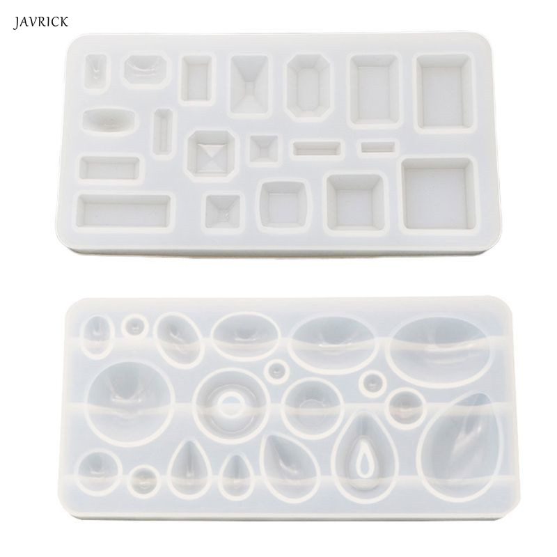 JAVRICK DIY Crystal Epoxy Pendant Mold Mirror Handmade Resin Molds Gypsum Making Necklace Accessories Tools