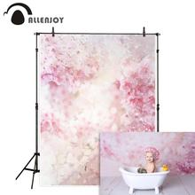 Allenjoy photography backdrop watercolor pink flowers spring baby shower wedding photocall party background photozone photophone цена в Москве и Питере