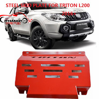 CITYCARAUTO STEEL SKID PLATE FRONT Engine base plate car bottom cover plate fit for MITSUBISHI TRITON L200 2015 2017 CAR