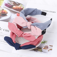 Fashion Korean Hairband Rabbit Ears Cloth Bow Headband Women Girls Hair Head Hoop Bands For Girl Hairbands Headwear Accessories
