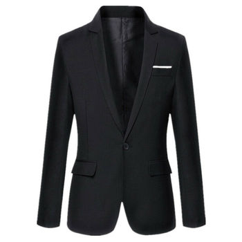 2019 Fashion Trend Men Suit Work Business Tuxedo Jacket Formal Party Occasion Tuxedos Suits Casual Autumn Winter Simple Outwear