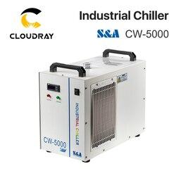 Cloudray S & A CW5000 промышленный воздушный охладитель воды для CO2, лазерный гравировальный станок для резки, охлаждение 80 Вт 100 Вт, лазерная трубка
