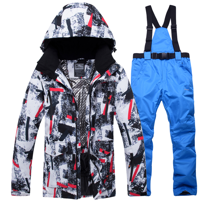 Pants Snowboard Jackets Ski-Suit Skiing Waterproof Winter Outdoor New Male And Men