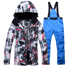 2019 New Winter Ski Suit Men Snow Skiing Male Clothes Set Outdoor Thermal Waterproof Windproof Snowboard Jackets and Pants hot sale snow jackets women ski suit set jackets and pants outdoor female single skiing clothes windproof thermal snowboarding