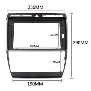 Image 2 - 9 zoll 2Din Auto Radio Fascia Für Audi A6 C5 2002 2006 Doppel Din Stereo DVD Rahmen Dashboard GPS panel Montage Installation Trim